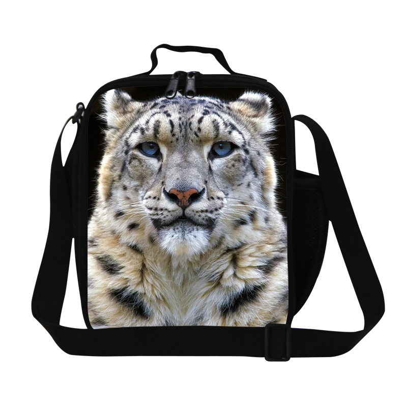 Zoo Animal Personalized Lunch Bags For Kids Tiger Lunch Cooler For Men Work Insulated Shoulder Lunch Box Picnic Food Meal Bags