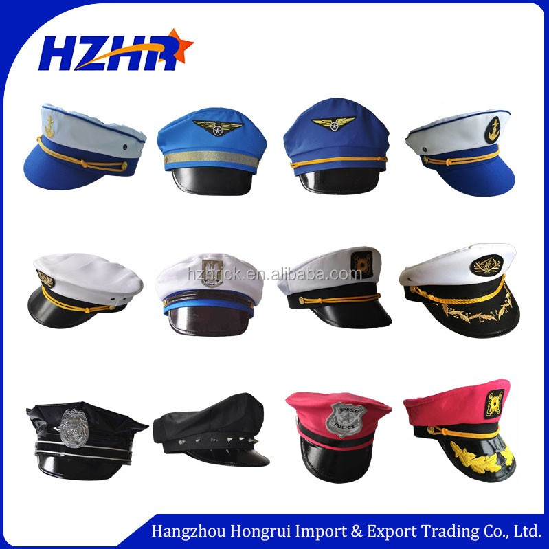 Cheap Black Security Guard Cap   Military officer hat with ribbon cover police  hat ea83eb40fa8