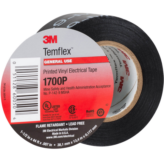 3M Temflex 1700 Vinyl PVC Electric Insulation Tape for wire harness wrapping