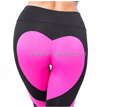 Hot Sexy Women's Heart Shape Yoga Pants Sport Pants Workout Leggings Sexy High Waist Trousers