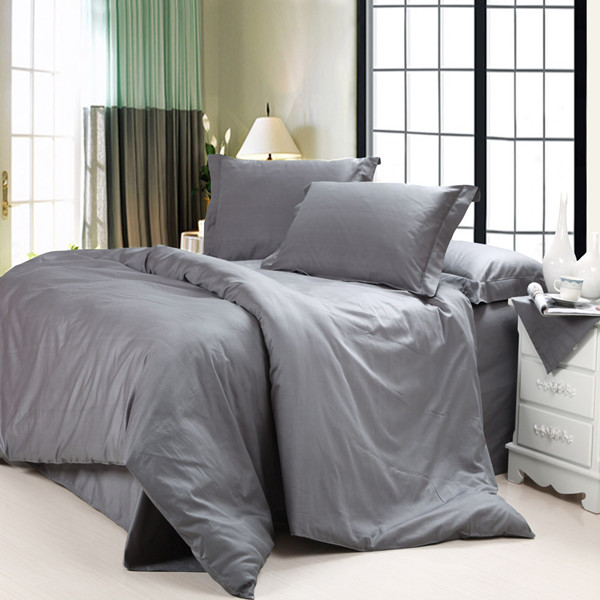 Satin Cotton Bed Sheets Set And Duvet Cover Solid Color Plain Dyed View Shuoxiong Textile Product Details From Zhaoxian