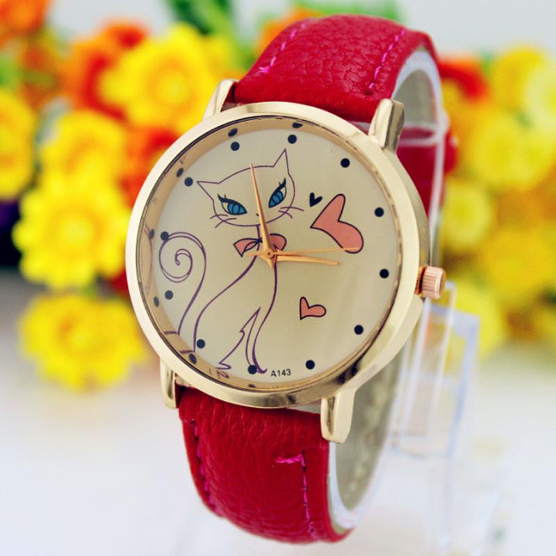 348267befd4 Fashion Women Faux Leather Strap Band Analog Quartz Wrist Watch ...