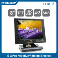 8 inch 800*600 TFT LCD Resistive Touch Monitor with Image Flip Function