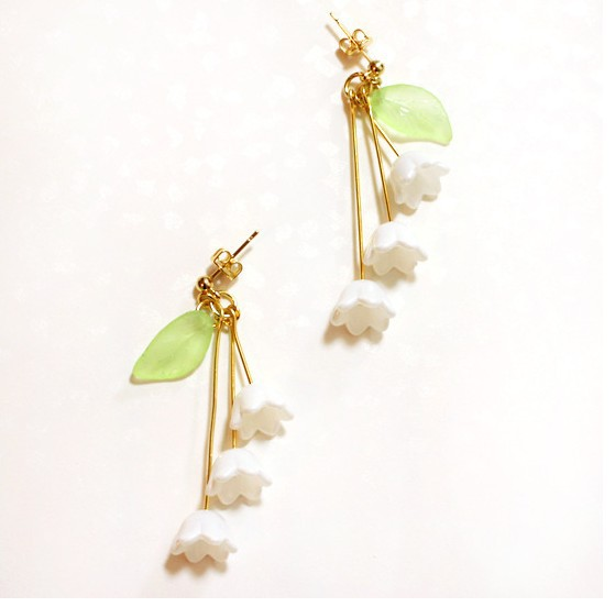 New arrival fashion earrings Japan and Korea flower earrings Fresh Women Alloy Ear clip <strong>jewelry</strong> free shipping