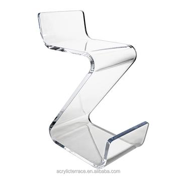 chaise de bar avec dossier en plexi