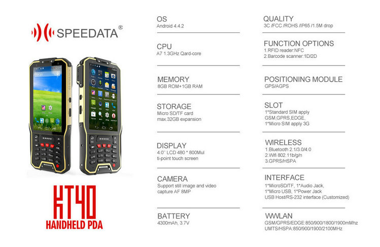 Promotion Speedata Kt40 Mobile Computer Pda Handheld Android Barcode
