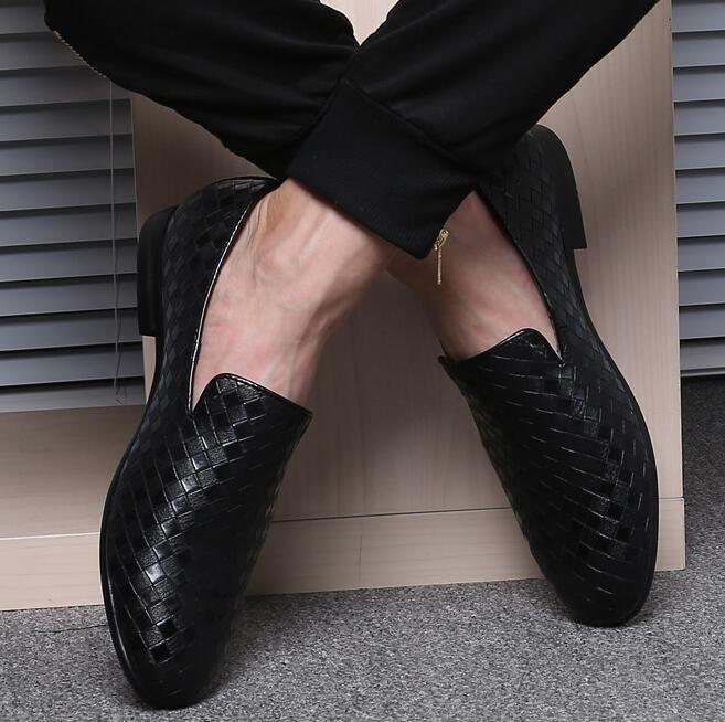 up-0702r Popular mens dress shoes new pattern woven shoes for men