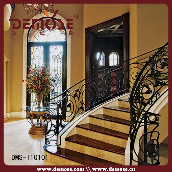 Dise o de lujo demose hierro forjado barandas para - Escaleras de hierro forjado ...