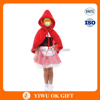 Plush little red riding hood costume
