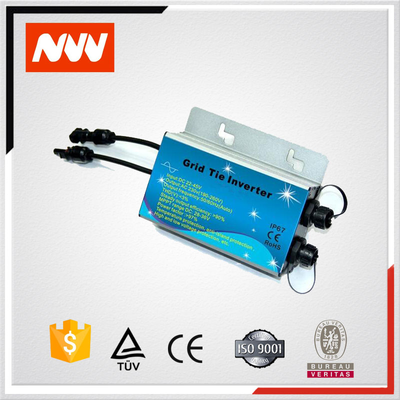 Waterproof inverter dc to ac output 110v or 220v WMVC-250W solar grid tie inverter