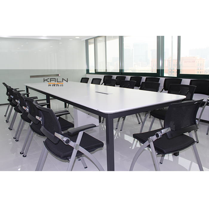 Modern design meeting table office supply boardroom furniture white black conference table reception desk healthy material