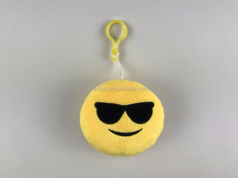 popular Emoji Keychain Cushion Pillows animal toy mini keychain