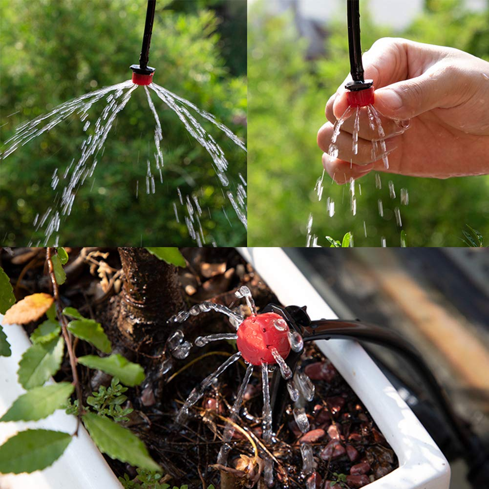DIY Saving Water Automatic Irrigation Equipment Set for Garden Greenhouse, Flower Bed,Patio,Lawn
