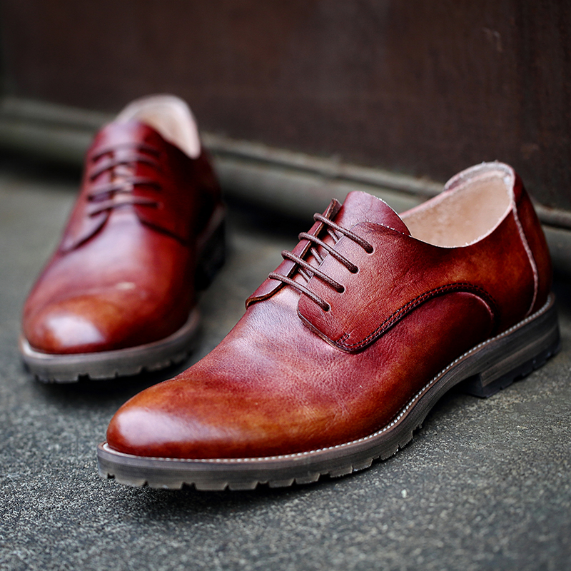 leather shoes high Guangzhou men's factory dress custom made end CRRP4Yq