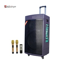 15 inch super bass <span class=keywords><strong>draagbare</strong></span> oplaadbare hout case trolley luidspreker met UHF mic