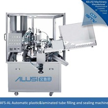 Automatic cosmetic cream filling and sealing machine, salve, unguent, oil filling machine