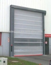 High speed automatic stacking door