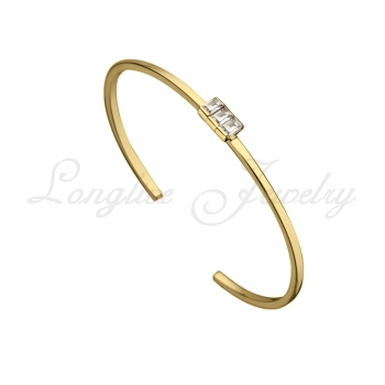 round solid white bracelets bangle gold diamond bracelet bangles pave