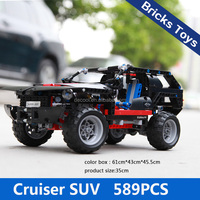 shantou Decool 3341 589pcs cruiser suv car model plastic building blocks and bricks children toys car