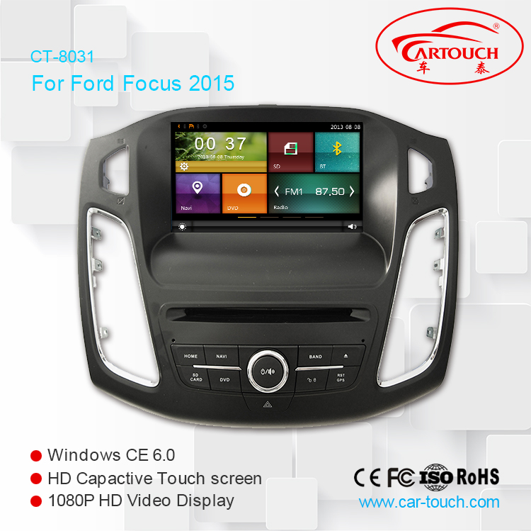 8Inch GPS navigation 2 din car mp3/mp4 car GPS radio TV DVD player with touch screen for Ford Focus 2012- 2015