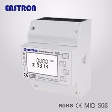 MID Certicated SDM630Modbus V2 electric smart Three Phase four wire Bi-directional Solar PV digital energy meter