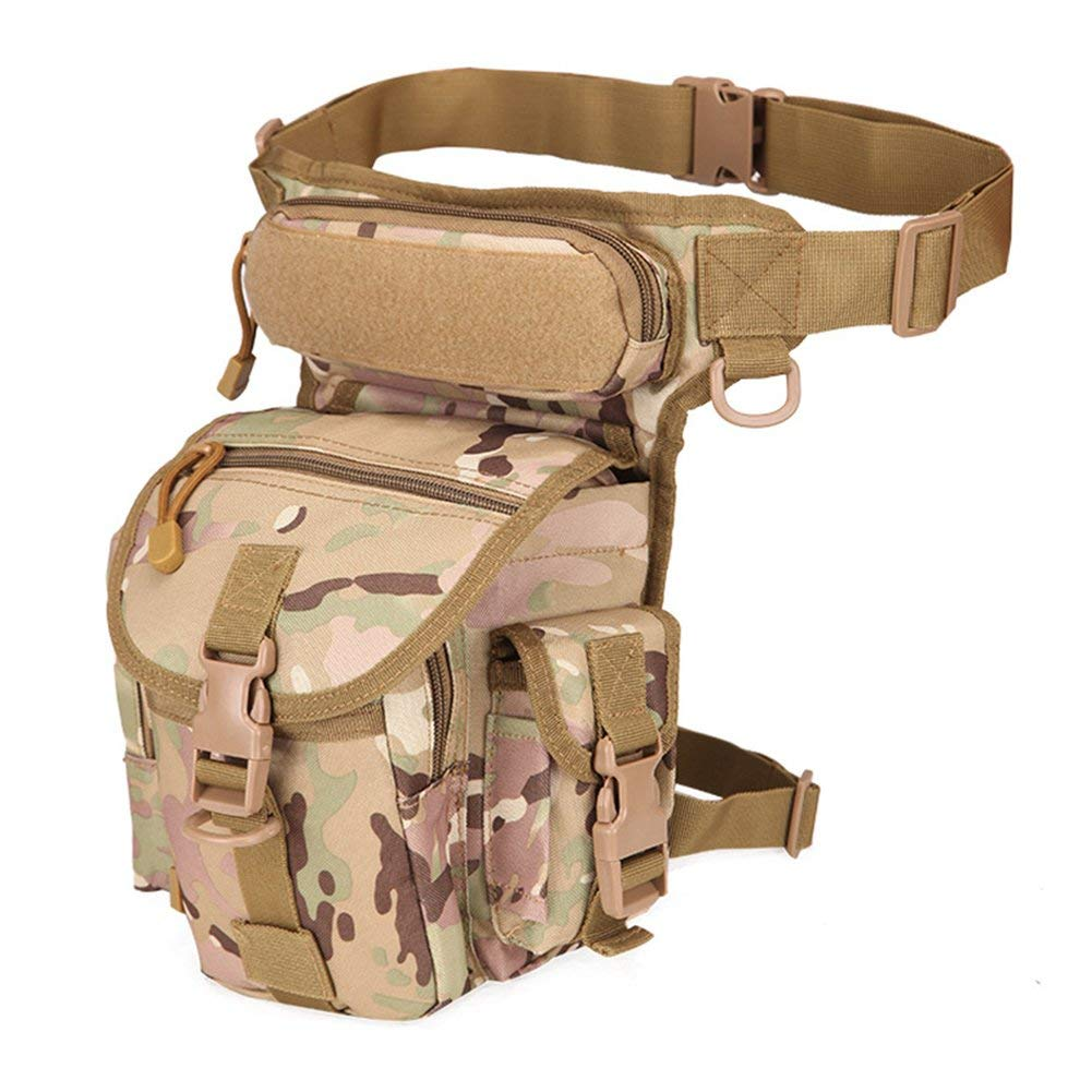 osierr6 Multi-purpose Motorcycle Drop Leg Pouch Hip Holster Bag Waterproof Tactical Thigh Bag Military Camera Fanny Pack Army Waist Tool Bag Tactical Sling bag pack for Men