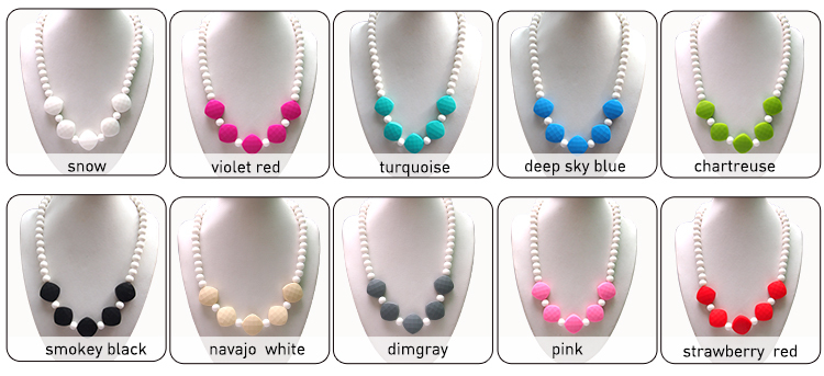 China Manufacturer Kean silicone teething necklaces baby dolls for sale