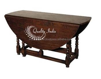 English Tudor Style Rustic Gate Leg Drop Leaf Dining Table Buy