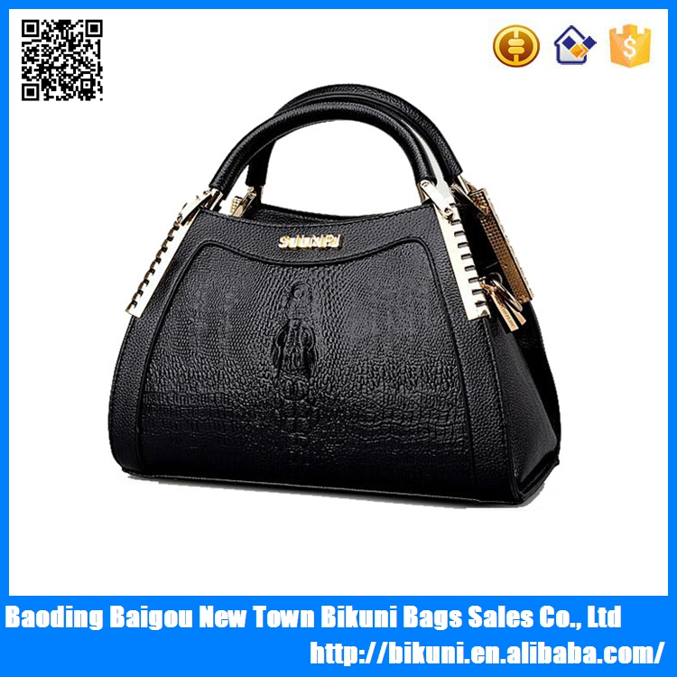 Hot sale new designer fashionable PU leather tote hand bag women bags