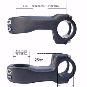 carbon bike stem road bike stem fork diameter 28.6 mm 31.8mm handlebar 25.4mm 31.8mm full carbon stem length 60mm-130mm 3K matt
