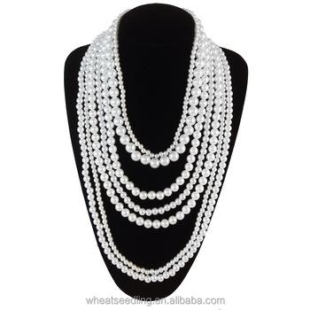 bf28cb240c46 Toda la venta de joyería de moda 2016 Multi Strand joyas y bisutería de  novia collar