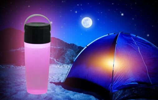 New design 3 LED Solar Camping Cup light with rechargeable battery