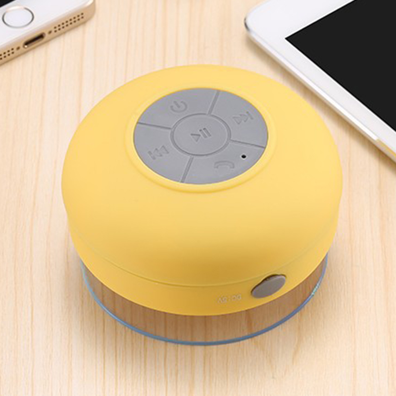 Panjang Waktu Bermain Suara HD Suction Cup Mini Nirkabel Speaker Tahan Air Portabel Bluetooths Speaker untuk Ponsel