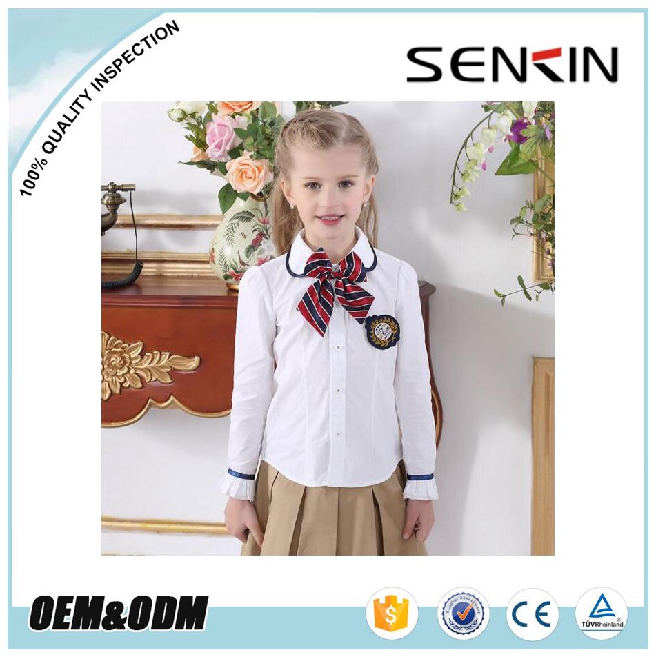 angleterre style jolie enfants uniforme scolaire personnalis chemise blanche et jupe pliss e. Black Bedroom Furniture Sets. Home Design Ideas