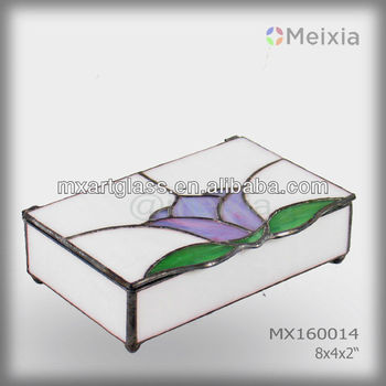 MX160014 tiffany style stained glass jewelry boxes wholesale