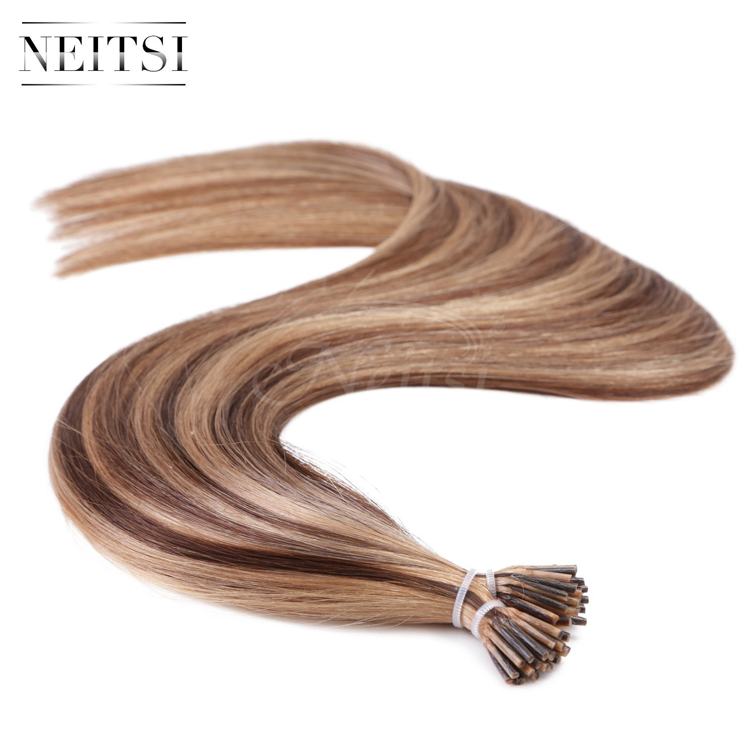 "Neitsi® 20"" 1g/s 25s/lot Fusion Glue I Tip/Stick Remy Human Hair Extensions (P4-27#)"