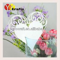 YOYO crafts fancy wedding party favor decoration laser cut heart wedding place card