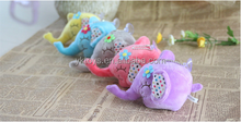 Colourful novelty elephant with flower decoration plush elephant toy plush animal toy