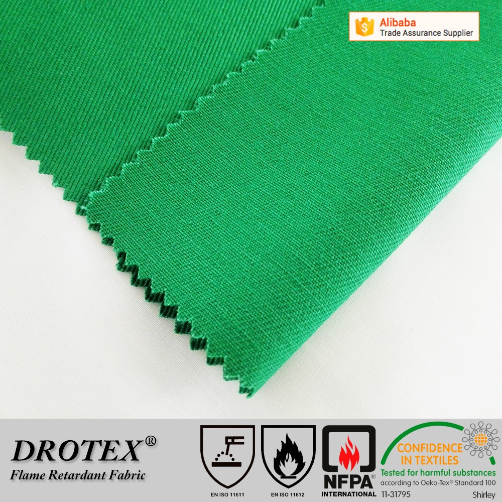 Cotton Woven Twill Fabric Protective Arc Flash Proof HRC 2 Workwear FR Fabric