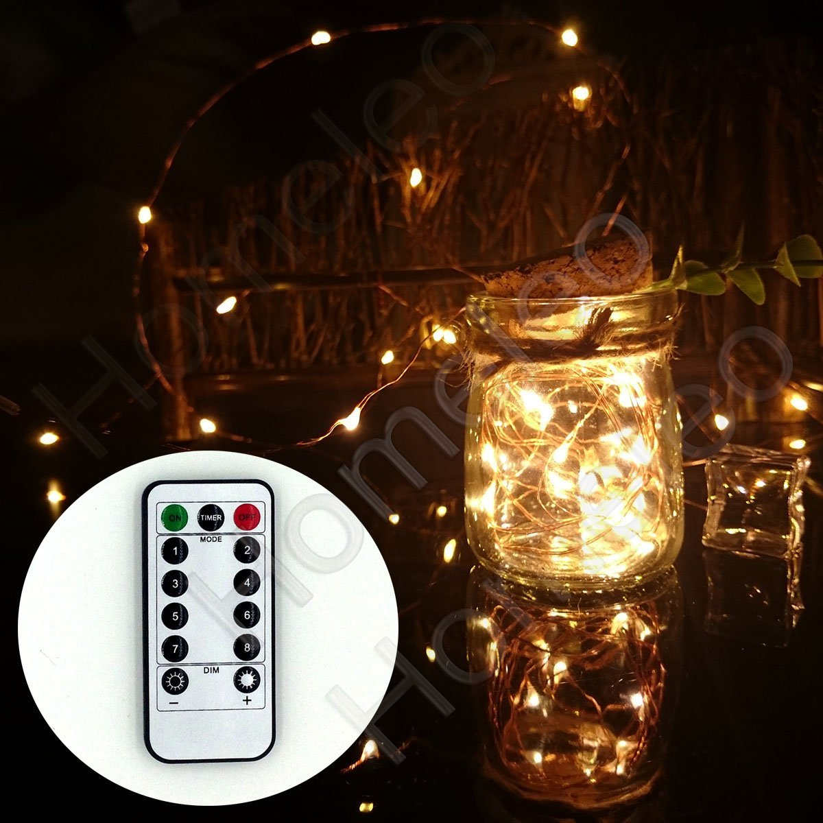 size 40 1fa7f fea57 Buy Homeleo 5M 50LEDS Battery Operated Remote Contol LED ...