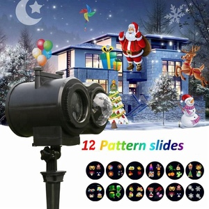Halloween Christmas new Year Led Projector Light remote remote Control 12 Pcs dynamic Slides projection Lights