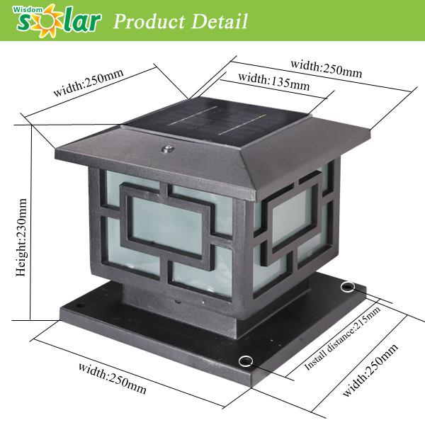 Ce Decorative Garden Solar Light Fence Post Cap With Led Light For ...