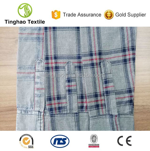 100% cotton yarn dyed brushed cotton shirts fabric factory