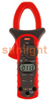 Digital Clamp Multimeter, AC/DC/Resistance/Frequency/Temperature Meter, 1000A, UT206A