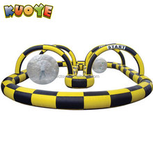 Wholesale zorb ball race track inflatable go kart track for sale