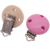 High Precision Custom Wooden Pacifier Suspender Clips With Secure Snap Clasp Pink Clip