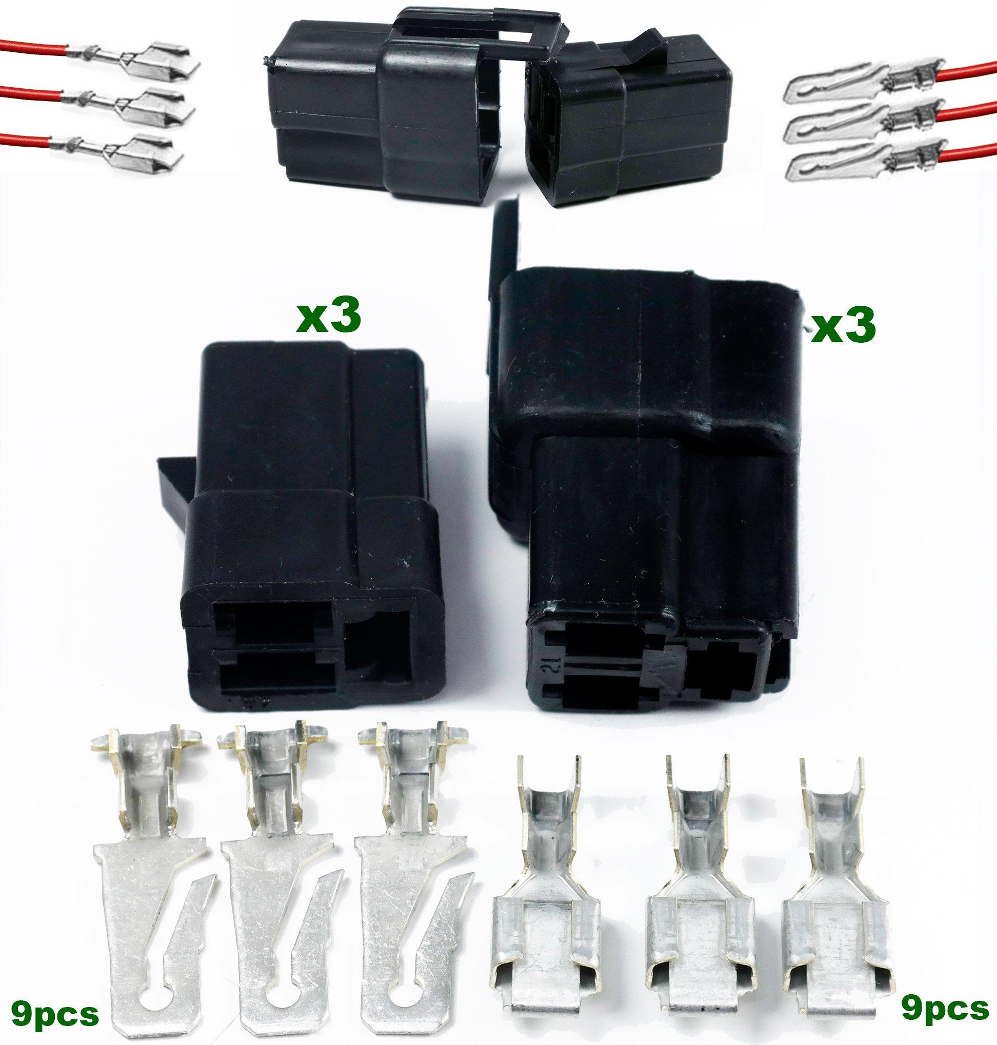 Clipsandfasteners Inc 15 Metri-Pack 280 Series Tangless Terminal 18-16 Ga.For GM