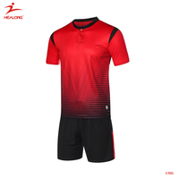 Healong Custom Red Soccer Jersey Thai Quality High Soccer Uniform