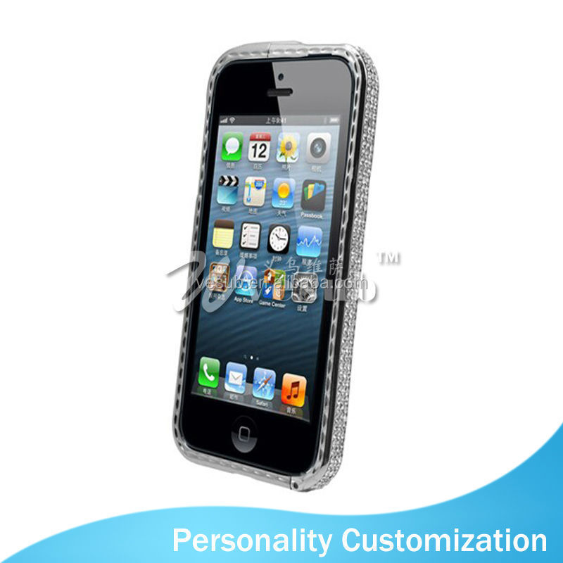 Sublimation Coated DIY 2D luxury case cover for iPhone5/5s