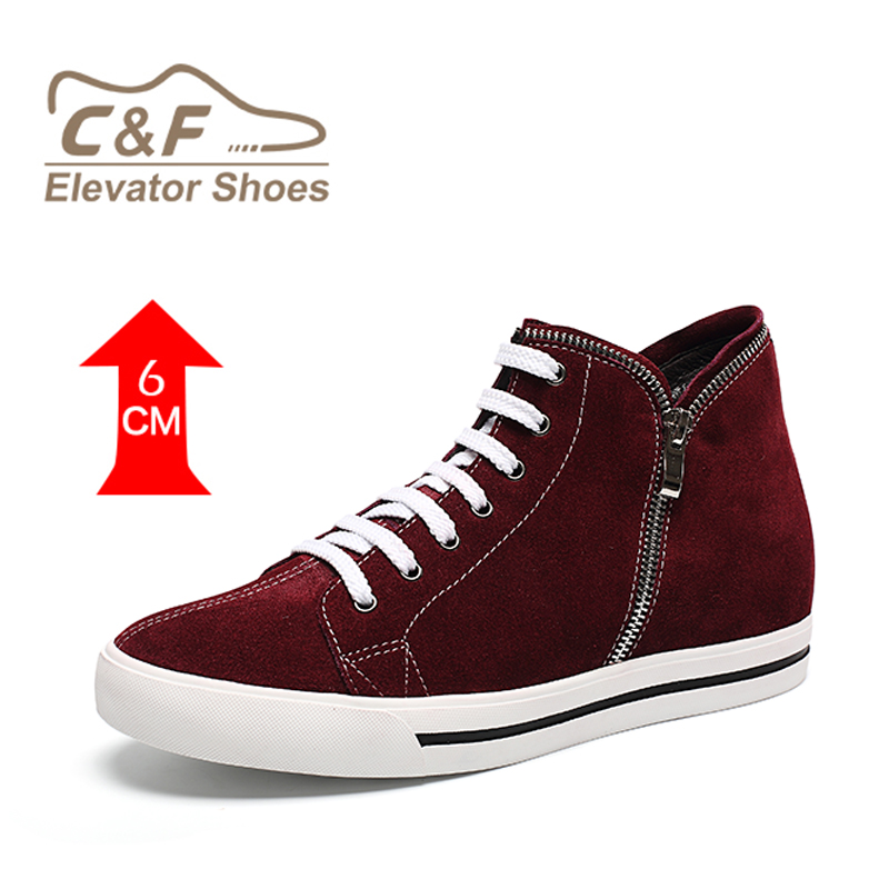 Casual Color Men With Heel Shoes Red Hidden q0FxRR4